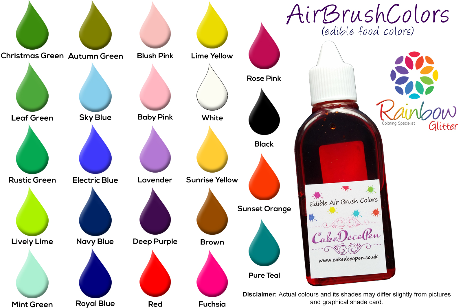 Lavender | Matt Edible Colors | Air Brush Cake Decorating | 50 ML