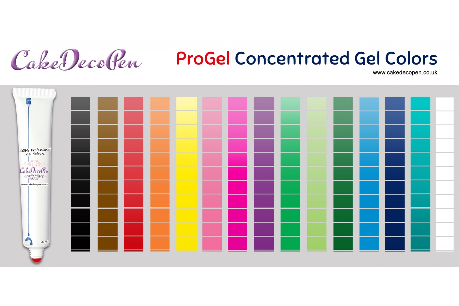 Cocoa Brown | Gel Food Colors | Concentrated ProGel | Cake ...