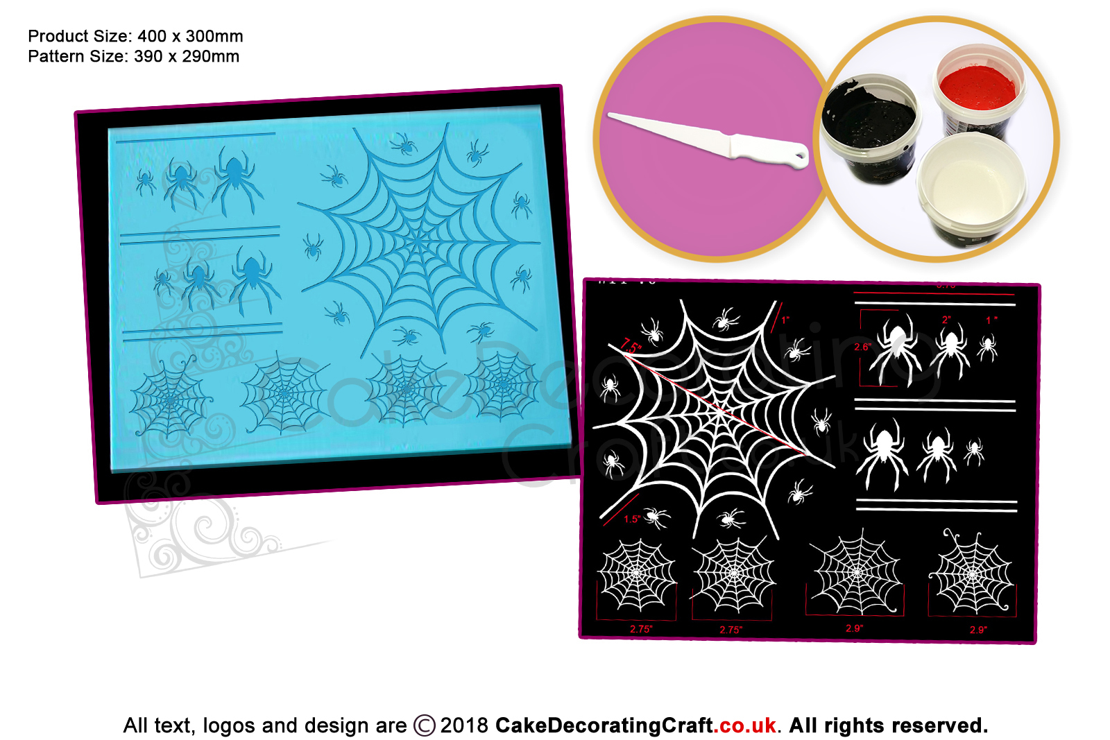 3d Cobweb Cake Lace Mats Cake Decorating Starter Kit Cake