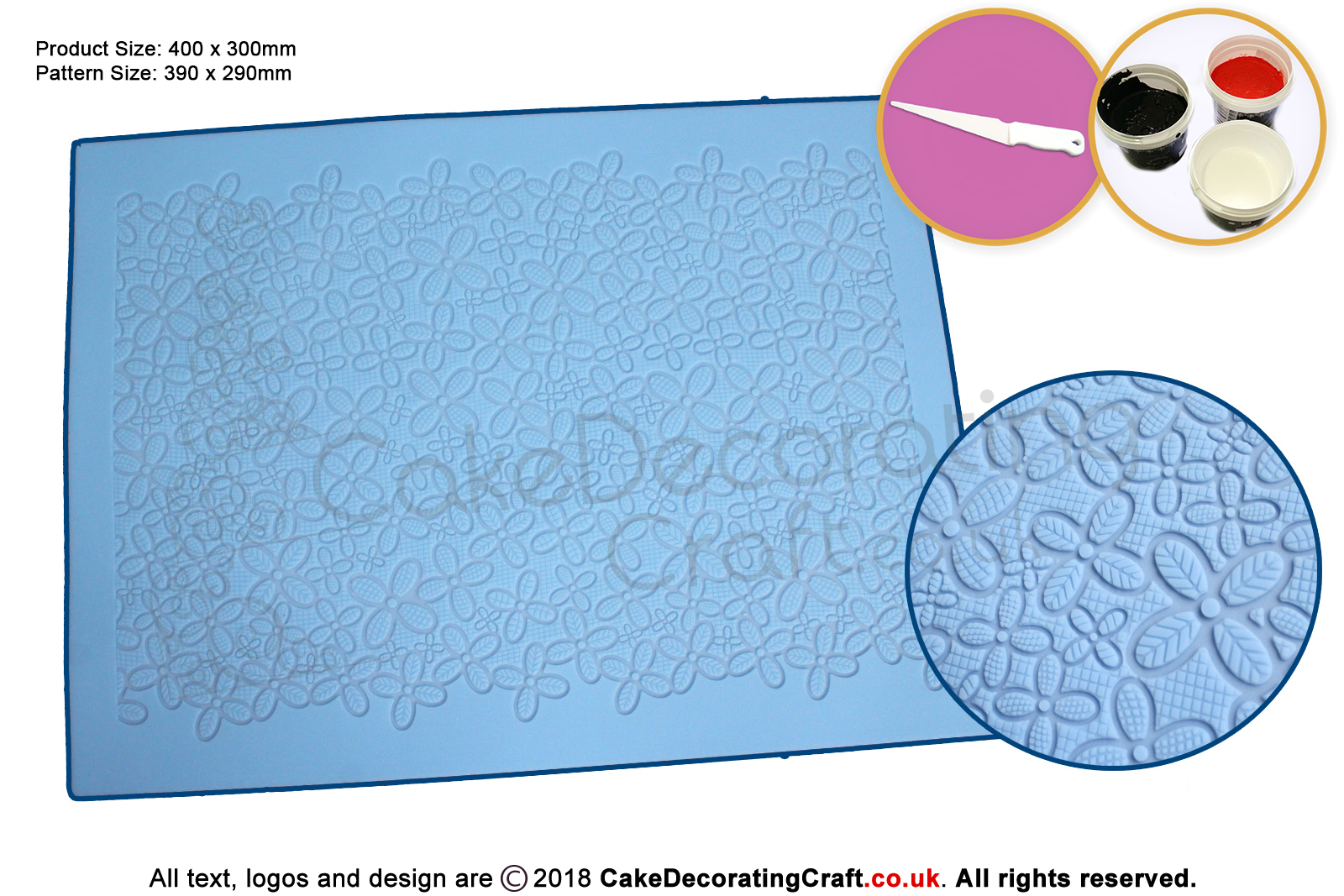 3d Daisy Lace Fabric Cake Lace Mats Cake Decorating Starter Kit