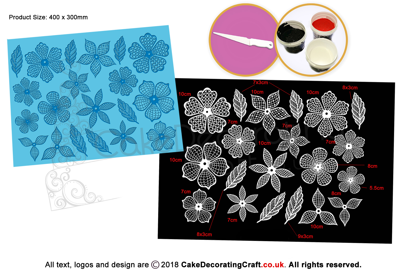 3d Floral Fantasy Cake Lace Mats Cake Decorating Starter Kit
