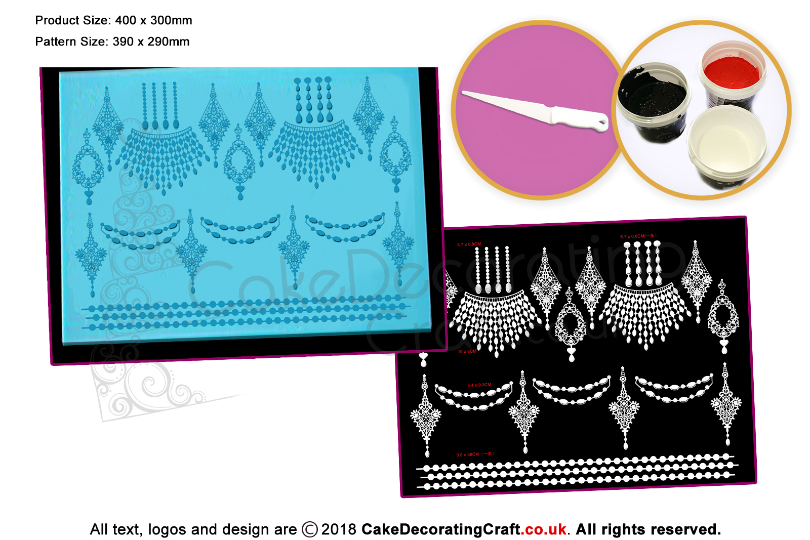 3d Necklace Cake Lace Mat Cake Decorating Starter Kit Cake