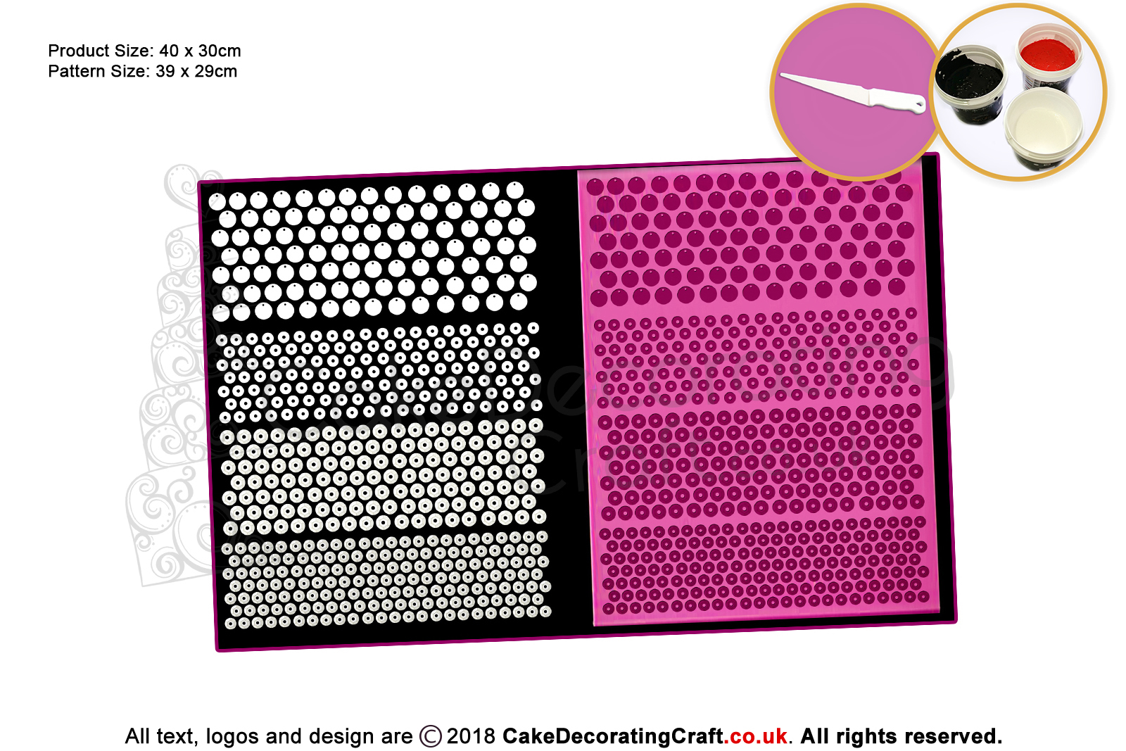 3d Sequin Cake Lace Mat Cake Decorating Starter Kit Cake
