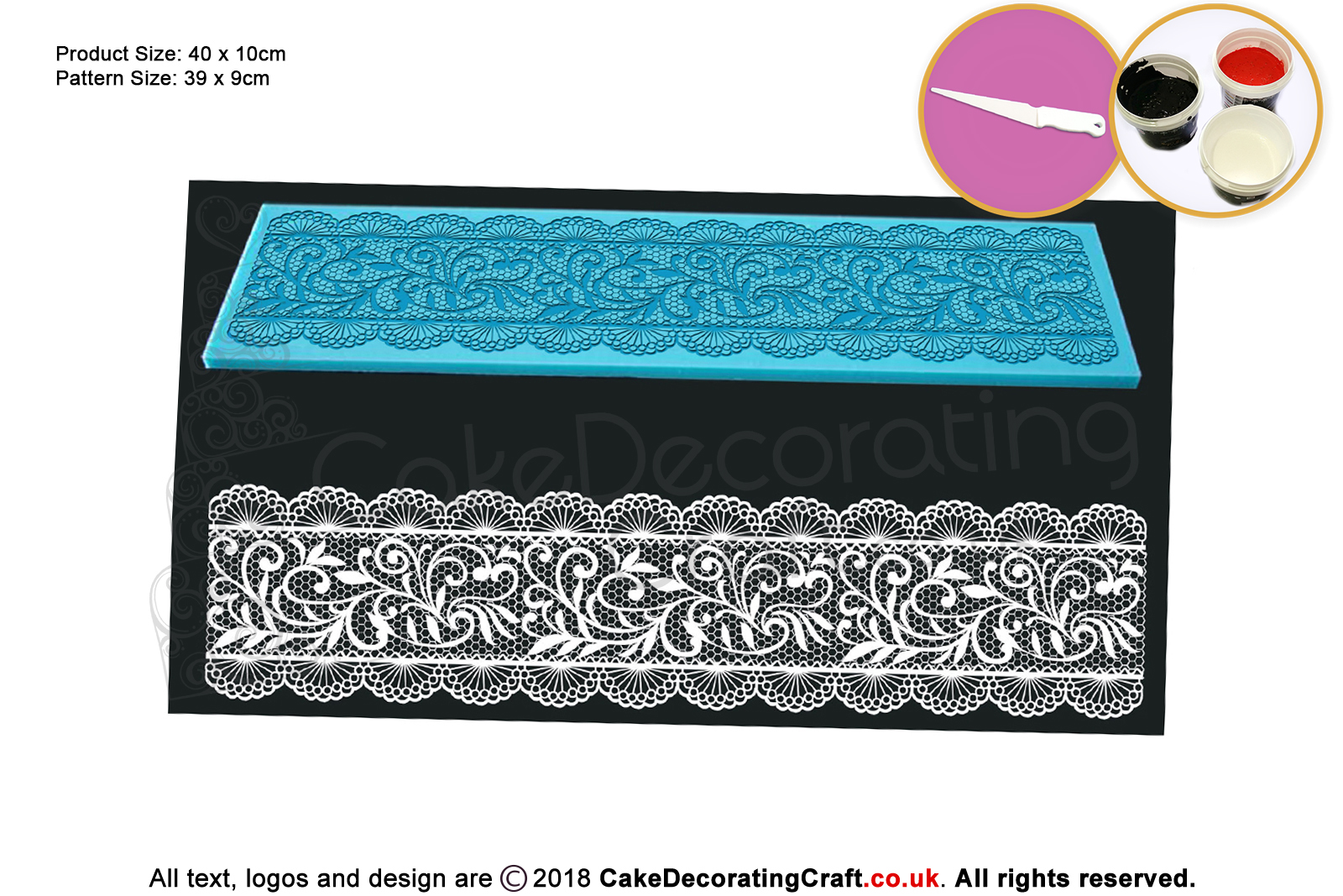 Chantelle Cake Lace Mats Cake Decorating Starter Kit Cake