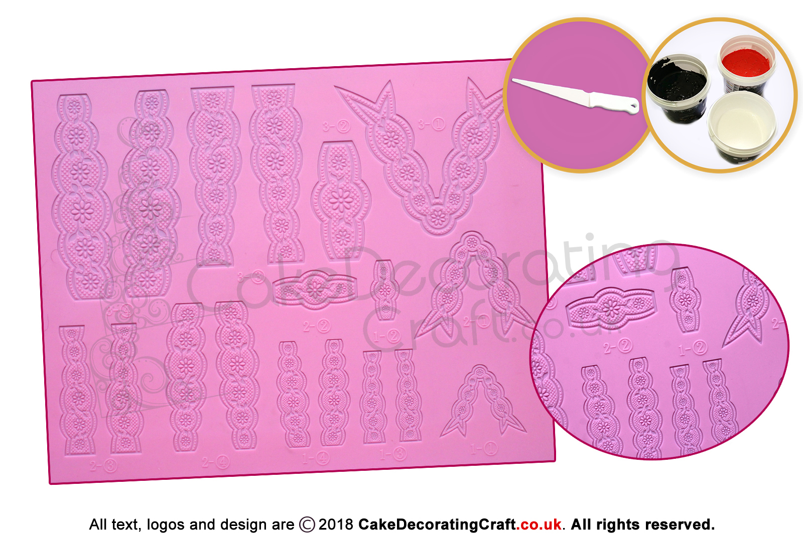 Bow Pink Cake Lace Mat Cake Decorating Starter Kit Cake