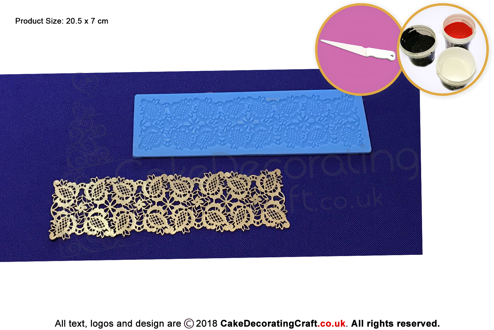 Pine Ribbon Cake Lace Mats Cake Decorating Starter Kit Cake