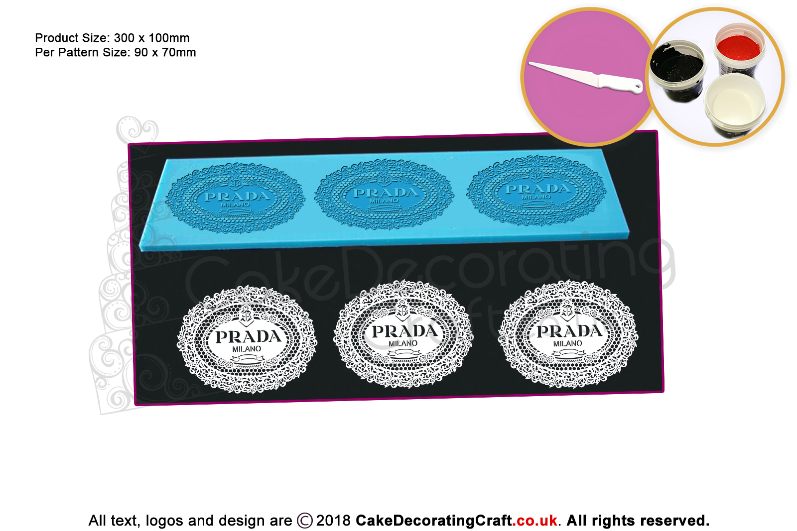 Prada Cake Lace Mats Cake Decorating Starter Kit Cake