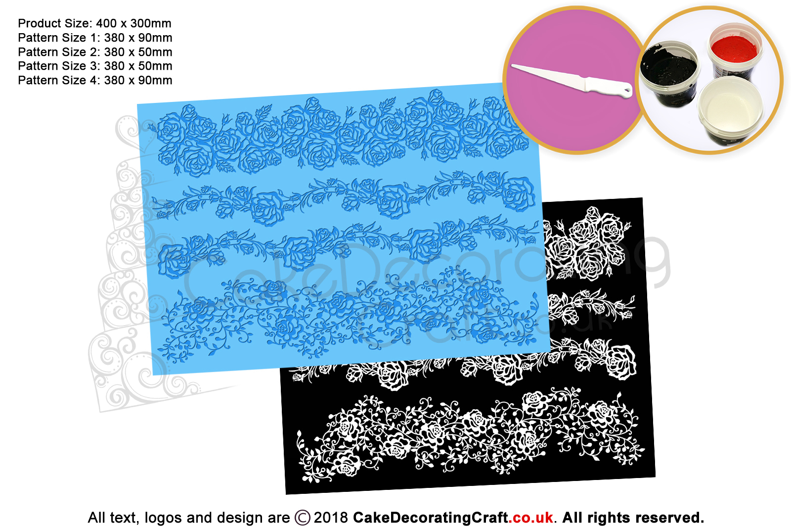 Roses Garland Cake Lace Mats Cake Decorating Starter Kit Cake