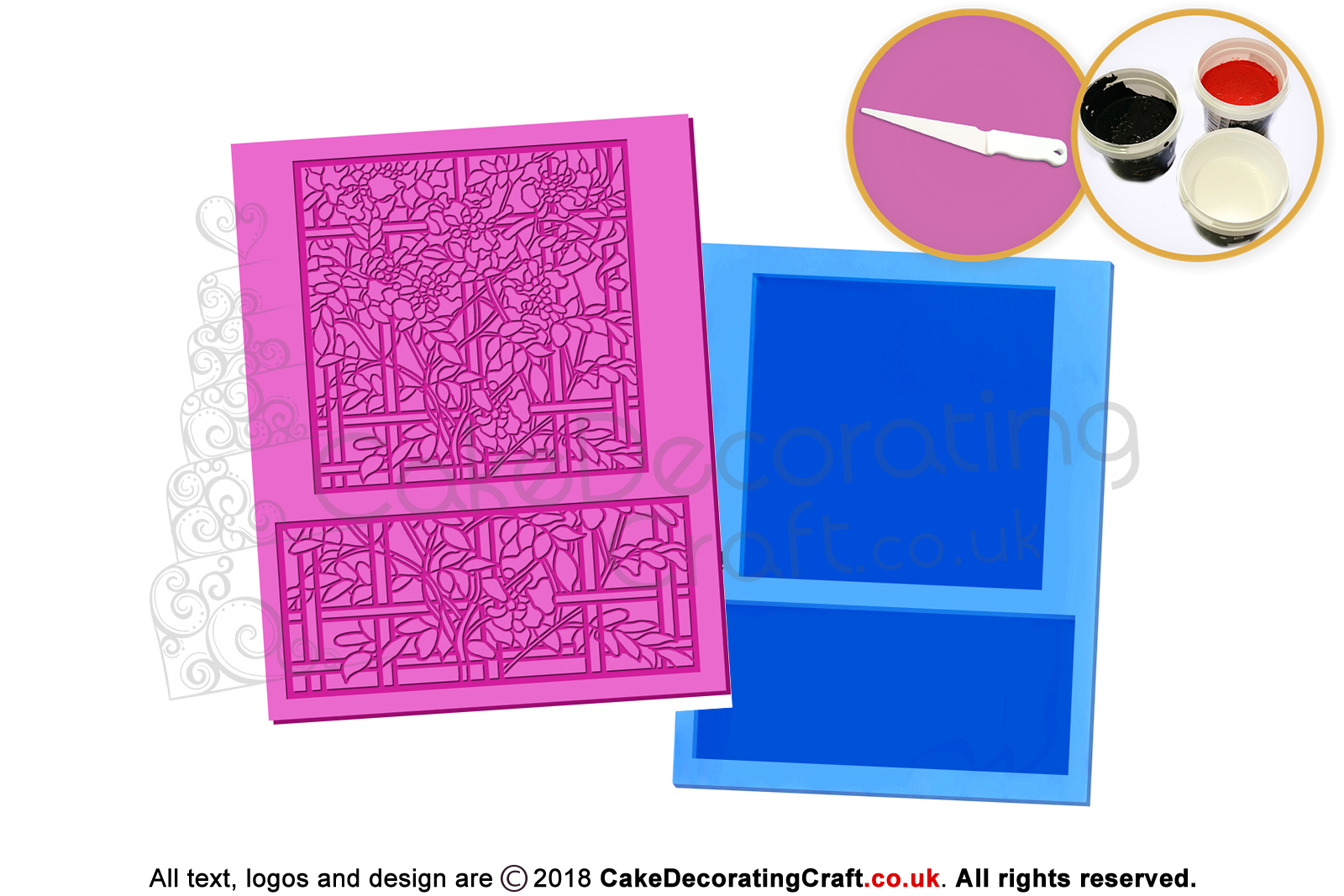 Glass Panel Cake Lace Mats Cake Decorating Starter Kit Cake