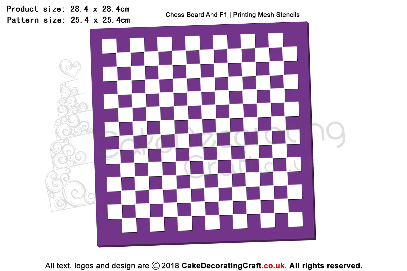 Chess Board And F1   Printing Mesh Stencils   Edible Ink