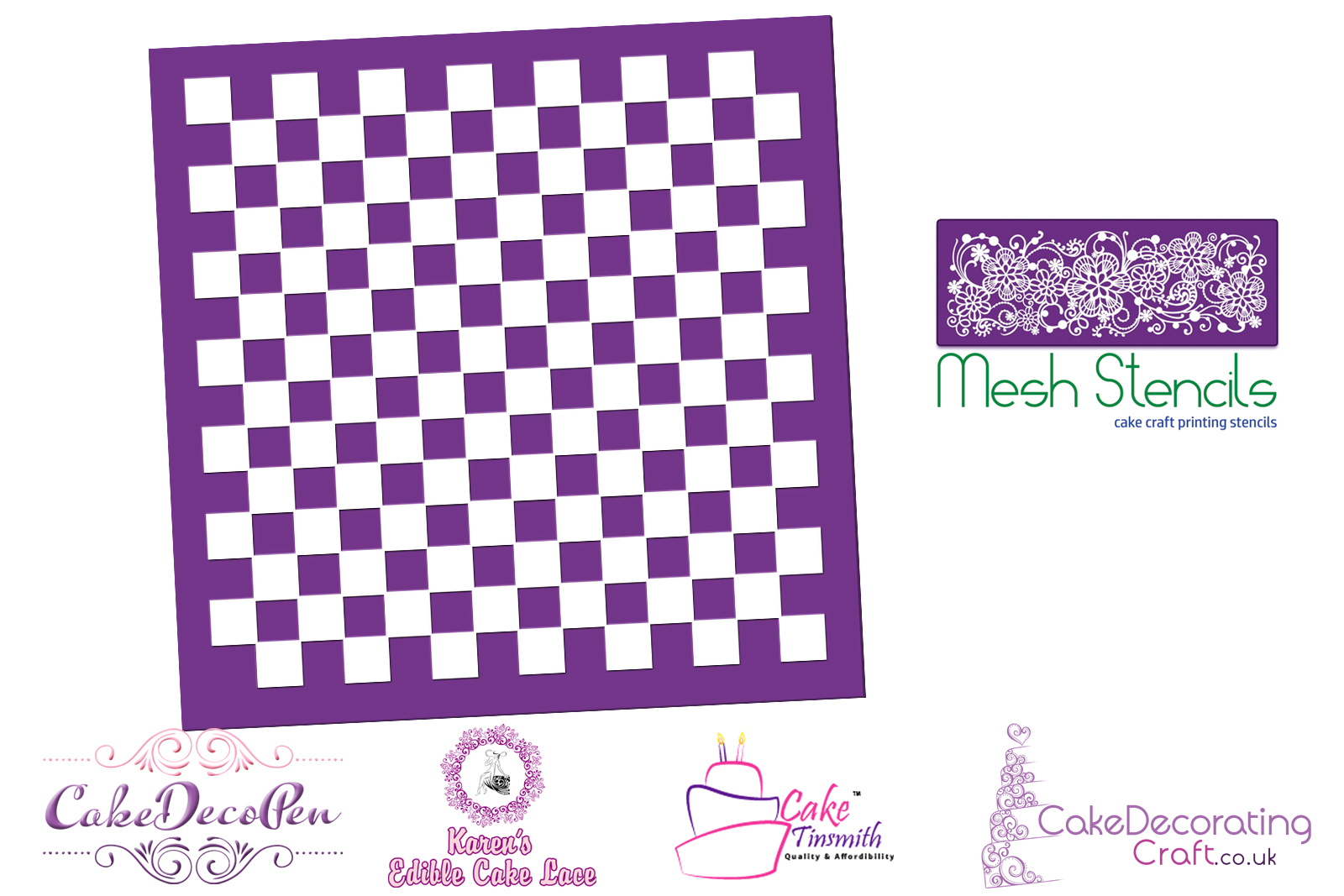 Chess Board And F1 | Printing Mesh Stencils | Edible Ink