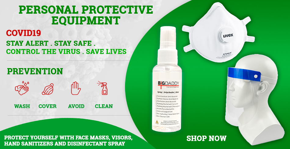 PPP - Mask - Visior - Hand Sanitiser Disinfectant Spray