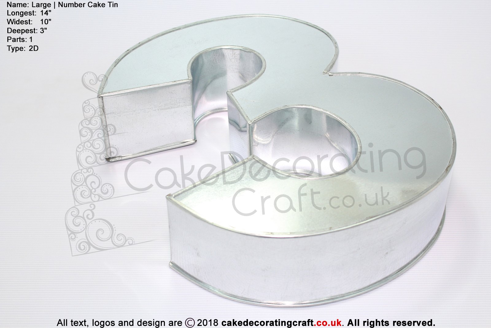 Large Number 3 Novelty Shape Cake Baking Tins And Pans