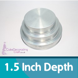 1.5 Inch Depth Round Cake Tins