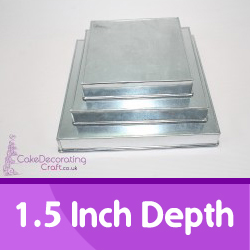 1.5 Inch Depth Square Caketins