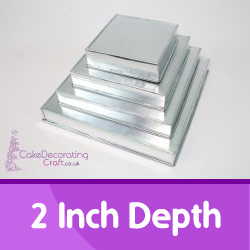 2 Inch Depth Square Cake Tins