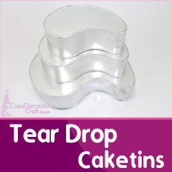 Tear Drop Cake Tins
