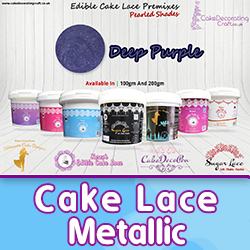 Cake Lace Metallic | Christmas Special