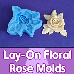 Lay-On Floral Rose Molds